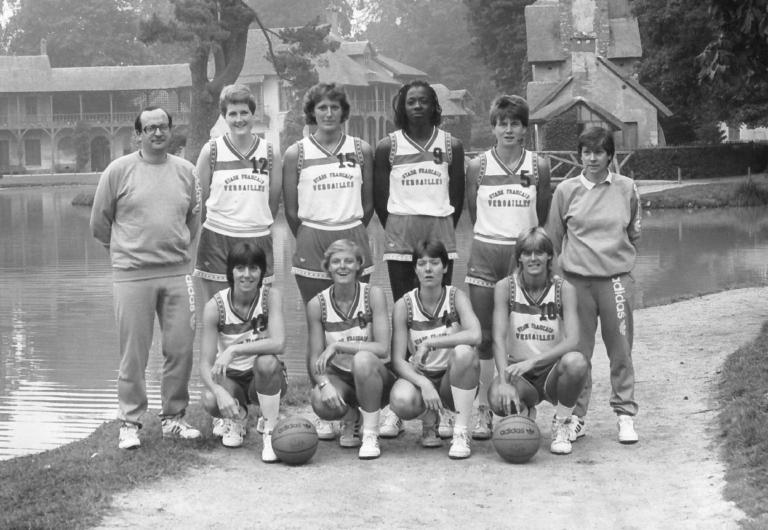 26- Stade français Versailles Championnat de France Basket Nat 1 1986-1987