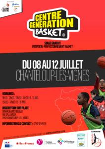 Les Centres «Génération Basket» de cet été 2019