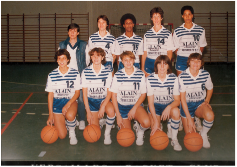 19- Versailles basket club Equipe Nationale 1 européenne 1984-1985